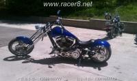 《美国订制》 美国 蓝色弹簧330宽胎订制 Chopper