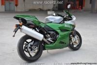 《贝乃利》2009款 个性十足跑车 龙卷风Benelli 1130 绿银色