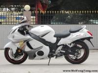 2008款铃木隼GSX1300R ,改装碳纤维吉村排气 白色喷漆 6000多公里 成色新