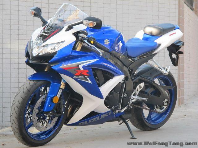 2008款 铃木GSX-R600 小R K8 蓝白色 图片 2