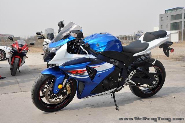 准新车2012年铃木大R GSX-R1000到货 蓝白色 图片 1